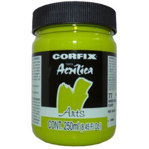 Tinta Acrílica 250ml Corfix Arts  077 Verde Inglês Claro G1
