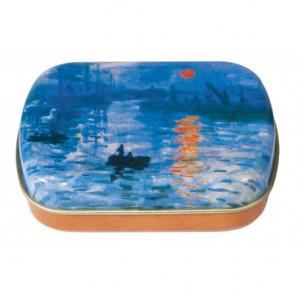 Caixa De Metal Personalizada Monet Pôr Do Sol