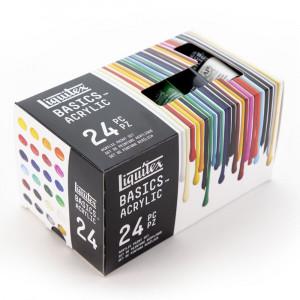 Estojo Tinta Acrílica Liquitex 24 Cores Basics
