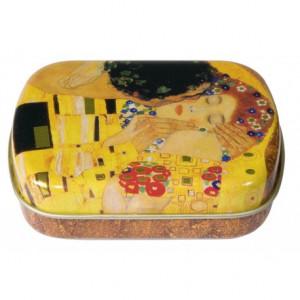 Caixa De Metal Personalizada Klimt O Beijo