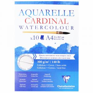 Bloco de Papel Para Aquarela Cardinal Clairefontaine A4 300g