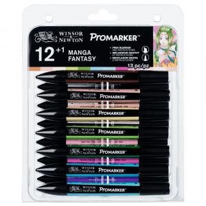 Marcador Promarker Mangá Fantasy 12 Cores + Blender Winsor&Newto