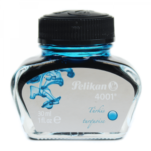 Tinta Para Caneta Tinteiro 4001 Pelikan 30ml Azul Turquesa