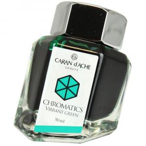 Tinta Caneta Tinteiro Caran d'Ache Chromatics Vibrant Green 50ml