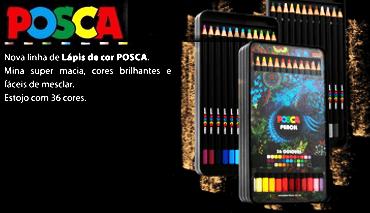lápis de cor 36 cores Posca