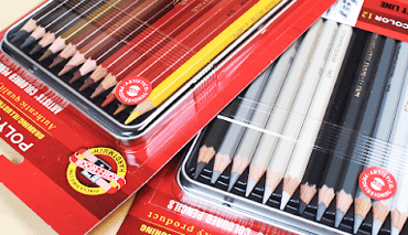 Lápis de Cor Polycolor 12 Cores Tons Cinza