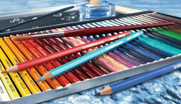 Lápis de Cor Aquarelável Aquacolor Stabilo Arty